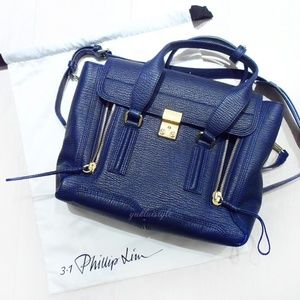 3.1 Phillip Lim Pashli Medium Satchel Ink Blue